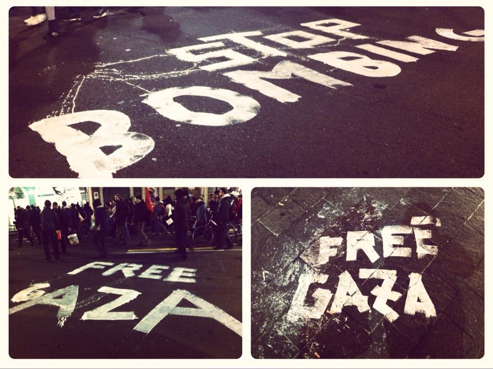 Corteo Stop Bombing Gaza
