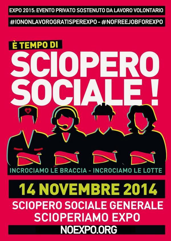 ScioperoSociale | corteo e azioni a Milano